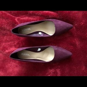 Merona Target burgundy pointy closed toe pumps